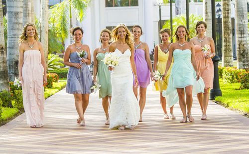 Why bridesmaid wear the same dress 2 500x309 - Claire & Adam - Riu Palace