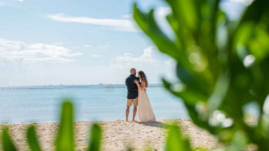 Brianna Andrew Mahekal Beach Resort Engagement 3 1024x576 - How Long Do Engagement Photography Sessions In Playa Del Carmen Typically Last?