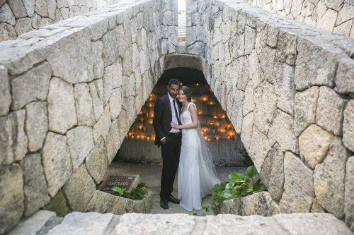 Newlyweds First look Grps 29 copy 500x333 - Tara & Pablo - Xcaret Eco Park