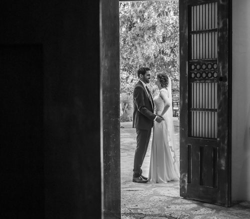 Newlyweds First look Grps 65 500x438 - Tara & Pablo - Xcaret Eco Park