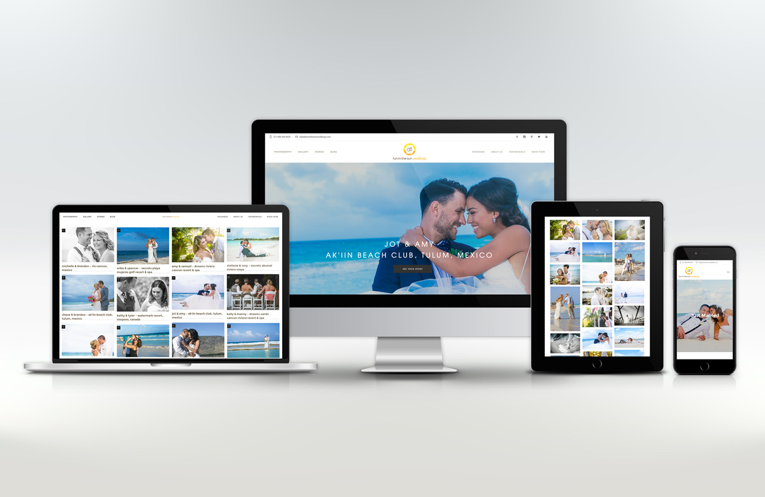 Fun In The Sun Weddings, Riviera Maya Destination Wedding Photography Business, Launches Its New, User-Friendly, Solocube-Designed Website