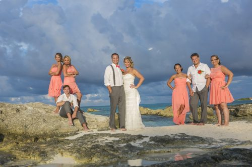 Michelle Brandon beach wedding riu cancun 01 5 500x333 - Michelle & Brandon - Riu Cancun