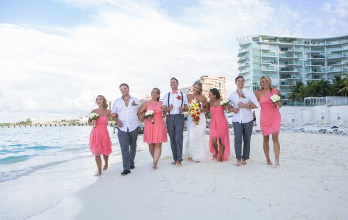 Michelle Brandon beach wedding riu cancun 01 500x317 - Michelle & Brandon - Riu Cancun