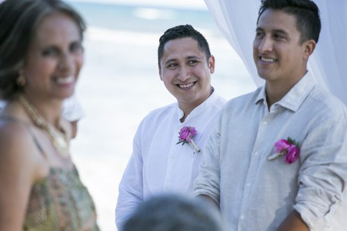 Amber Mauricio beach Wedding Grand Coral Playa del Carmen 01 500x333 - Amber & Mauricio - Grand Coral Beach Club