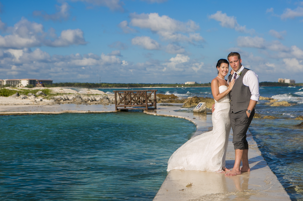 Katelyn Andrew beach wedding Grand Palladium riviera maya 01 14 - Katelyn & Andrew - Grand Palladium Resort
