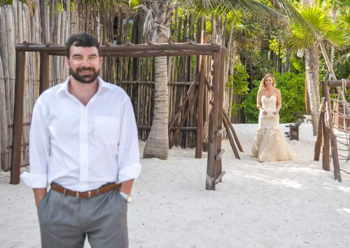 jessica brian beach wedding akiin beach club tulum 01 12 500x355 - Jessica & Brian - Ak'iin Beach Club
