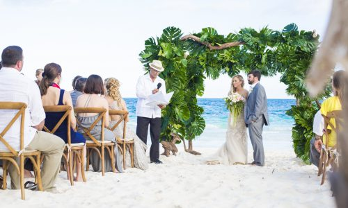 jessica brian beach wedding akiin beach club tulum 01 19 500x300 - Jessica & Brian - Ak'iin Beach Club