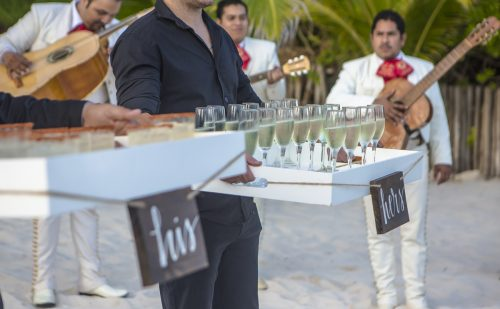 jessica brian beach wedding akiin beach club tulum 01 28 500x309 - Jessica & Brian - Ak'iin Beach Club