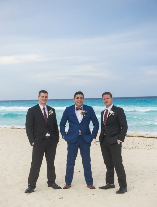 kate richard jw marroit cancun spa resort beach wedding 02 4 500x661 - Katia & Richard - JW Marriott Cancun