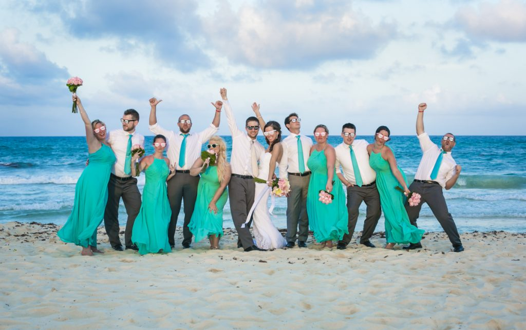 karee erik beach wedding iberostar paraiso maya riviera maya 01 29 1024x643 - How Many Hours Should You Hire A Riviera Maya Wedding Photographer For?