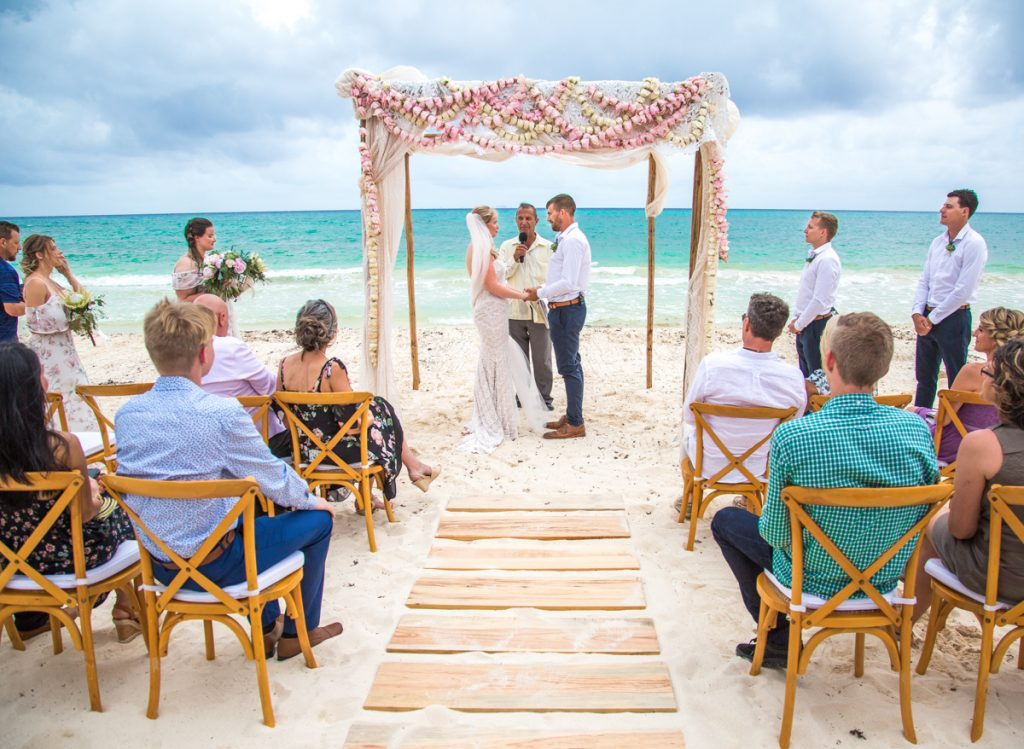 emily clay playa del carmen wedding grand coral beach club 01 18 1024x749 - The Bride's Guide For Coping With A Rainy Beach Wedding: 7 Essential Tips
