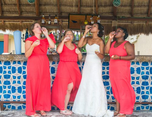ashley che beach wedding now sapphire riviera cancun 01 6 500x386 - Ashley & Che - Now Sapphire