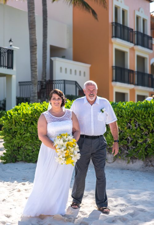 aimee robert beach wedding ocean coral riviera maya 01 4 500x730 - Aimee & Robert - Ocean Coral and Turquesa