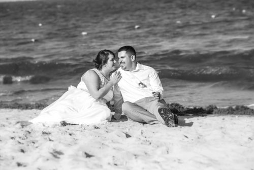 aimee robert beach wedding ocean coral riviera maya 02 4 500x335 - Aimee & Robert - Ocean Coral and Turquesa