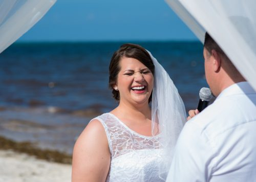 aimee robert beach wedding ocean coral riviera maya 02 9 500x356 - Aimee & Robert - Ocean Coral and Turquesa