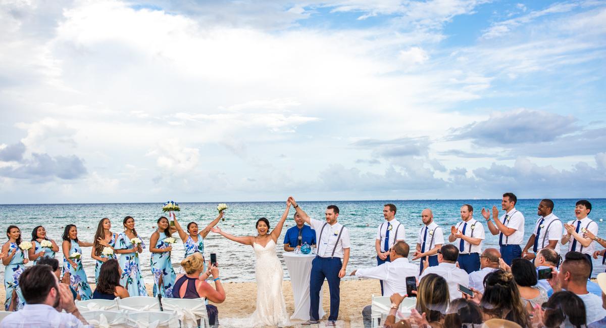 darcelle justin beach wedding ocean riviera paradise playa del carmen 01 4 - Darcelle & Justin - Ocean Riviera Paradise
