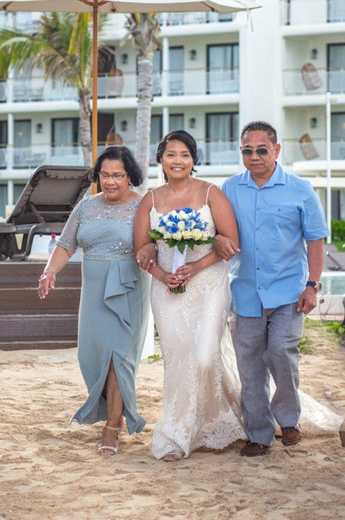 darcelle justin beach wedding ocean riviera paradise playa del carmen 02 7 500x753 - Darcelle & Justin - Ocean Riviera Paradise