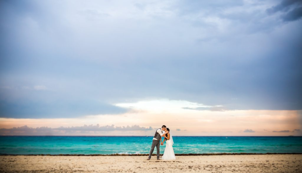 karen jonathan beach wedding sandos playacar resort.02 2 1024x589 - Rain On Your Wedding Day - Wedding Traditions & Superstitions Explained