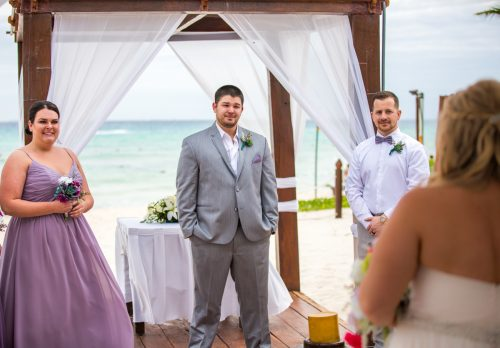 lana lee beach wedding grand sunset princess riviera maya 01 3 500x348 - Lana & Lee - Grand Sunset Princess