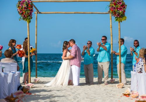 Jane Bill Finest Playa Mujeres Cancun Wedding 02 4 500x351 - Jane & Bill - Finest Playa Mujeres