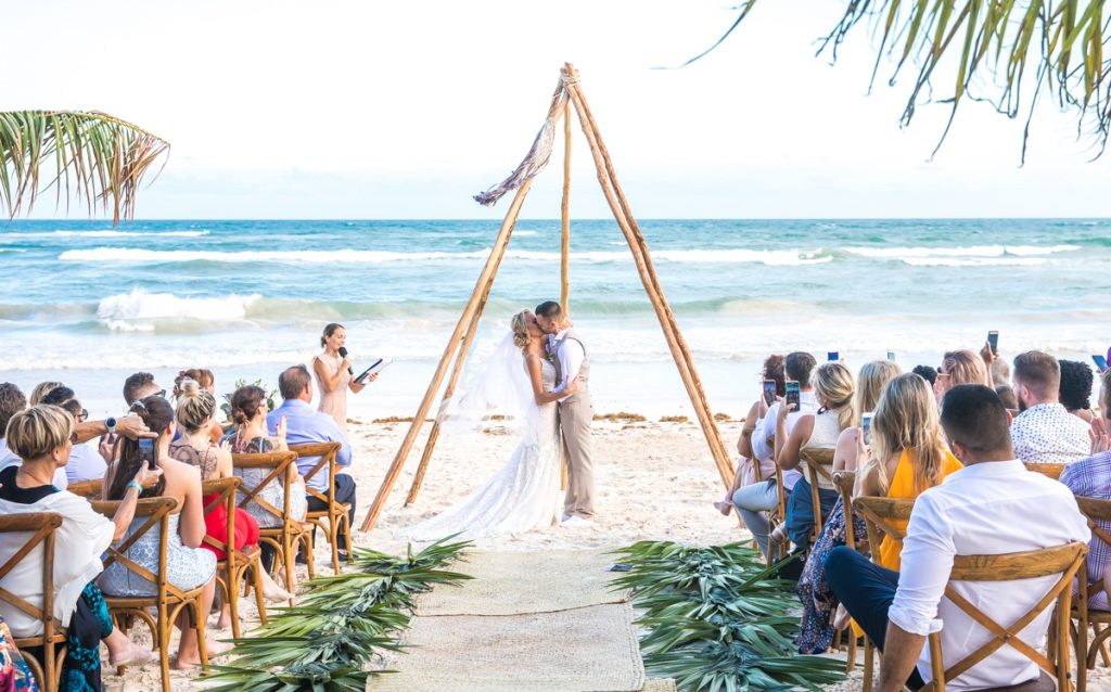 Kim Lev Akiin Beach Club Tulum Wedding 14 1 1024x638 - 8 Simple Steps: How to Plan a Destination Wedding Photography Timeline?