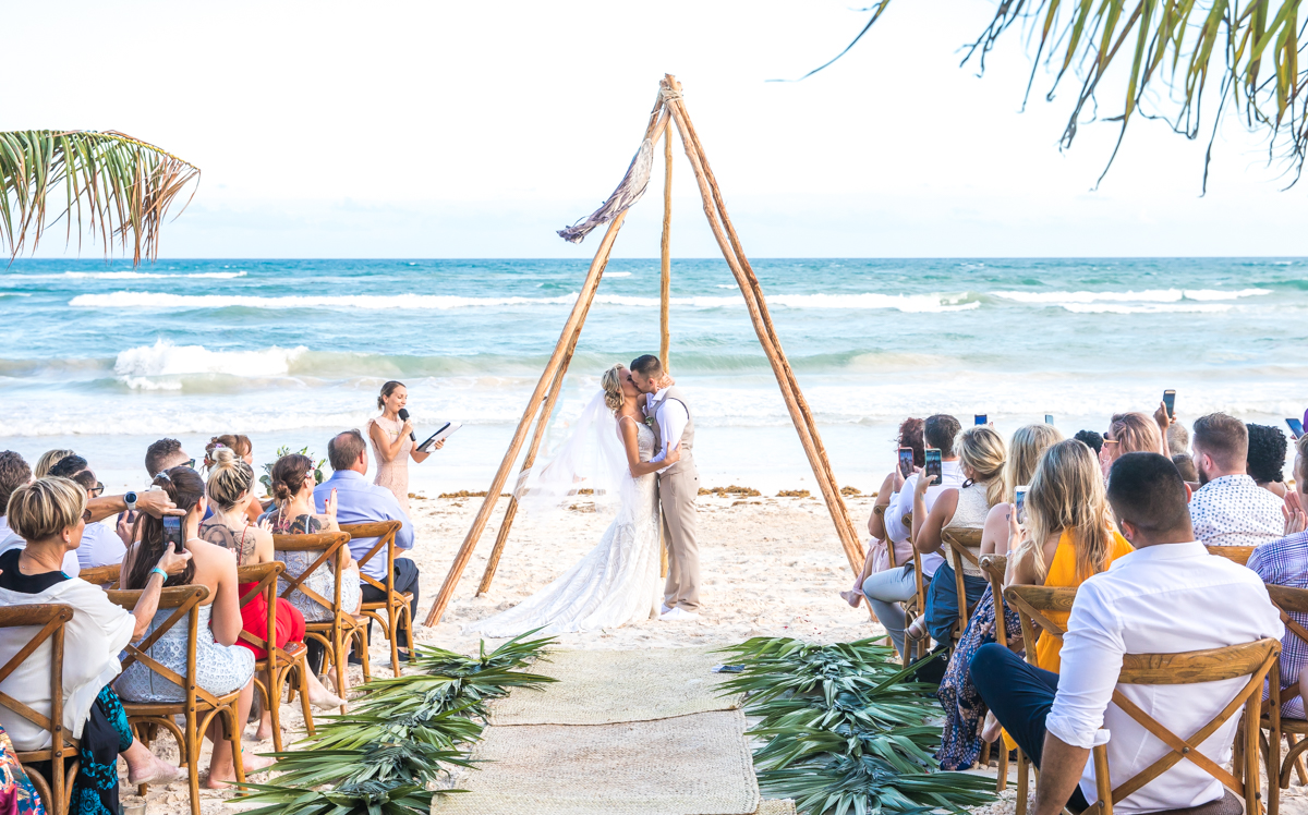 Kim Lev Akiin Beach Club Tulum Wedding 14 1 - Kim & Lev - Ak'iin Beach Club Tulum