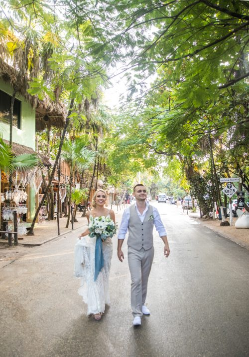 Kim Lev Akiin Beach Club Tulum Wedding 500x715 - Kim & Lev - Ak'iin Beach Club Tulum