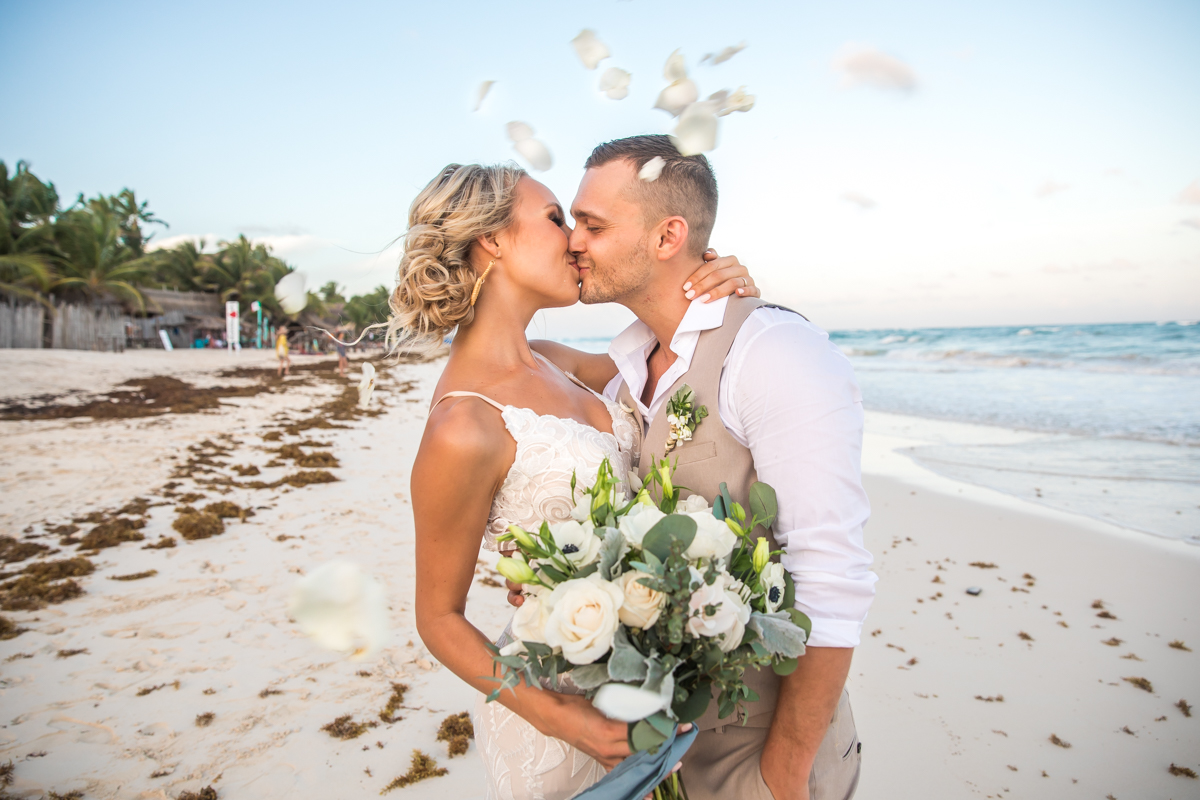 Kim Lev Akiin Beach Club Tulum Wedding 8 1 - Kim & Lev - Ak'iin Beach Club Tulum