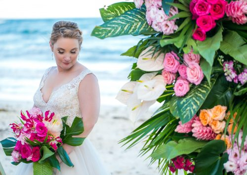 Natalie Matt Akiin Beach Club Tulum Wedding 11 500x355 - Natalie & Matt - Ak'iin Beach Club