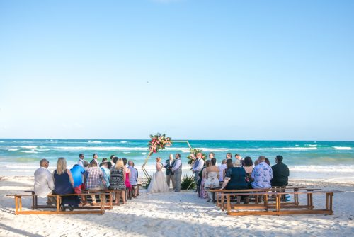 Natalie Matt Akiin Beach Club Tulum Wedding 16 500x335 - Natalie & Matt - Ak'iin Beach Club