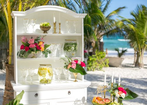 Natalie Matt Akiin Beach Club Tulum Wedding 26 500x359 - Natalie & Matt - Ak'iin Beach Club