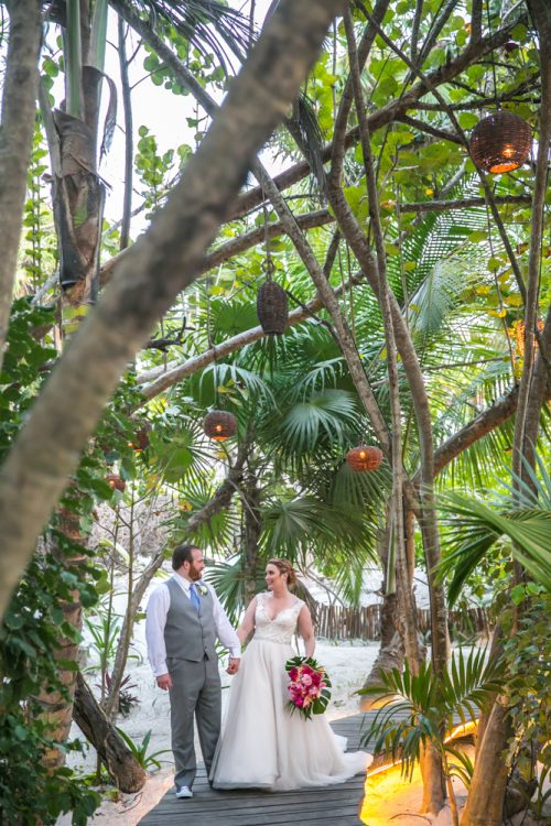 Natalie Matt Akiin Beach Club Tulum Wedding 500x750 - Natalie & Matt - Ak'iin Beach Club