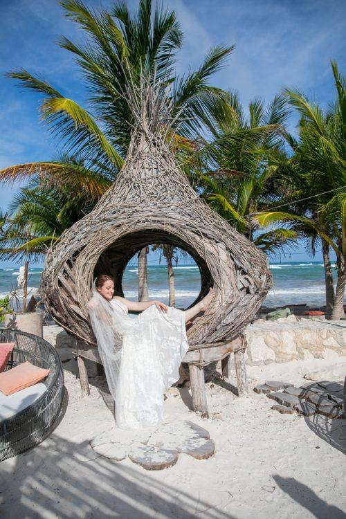 Alex Dylan Akiin Beach Club Tulum Wedding 11 1 500x750 - Alex & Dylan - Ak'iin Beach Club