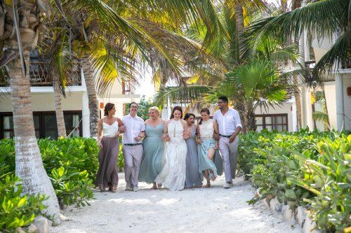 Alex Dylan Akiin Beach Club Tulum Wedding 18 500x333 - Alex & Dylan - Ak'iin Beach Club