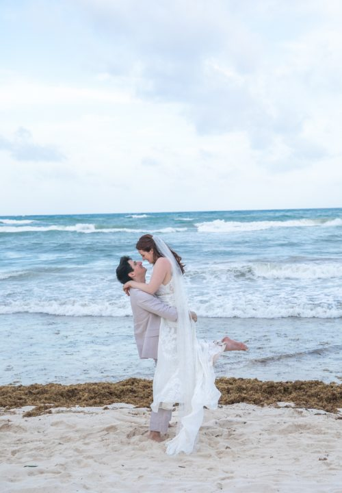 Alex Dylan Akiin Beach Club Tulum Wedding 7 1 500x720 - Alex & Dylan - Ak'iin Beach Club