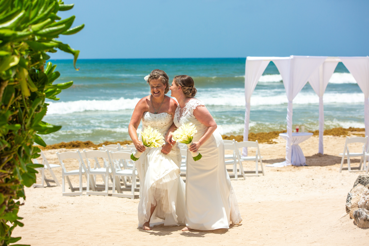 Allison Krissie Now Jade Riviera Cancun Wedding 14 - Allison & Krissie - Now Jade