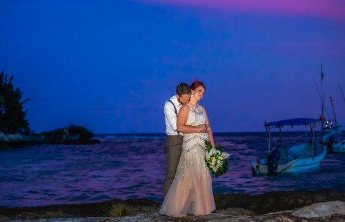 Brittan Colman Akumal Wedding 2 500x323 - Brittan & Colman - Cannon Point & Lol-Ha Restaurant