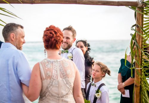 Brittan Colman Akumal Wedding 9 500x346 - Brittan & Colman - Cannon Point & Lol-Ha Restaurant