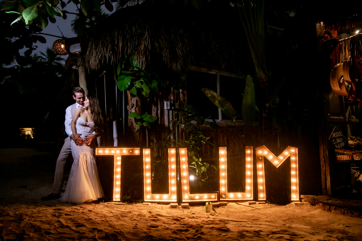 Vanessa Chris Akiin Beach Club Tulum Wedding 4 1 - Vanessa & Chris - Ak'iin Beach Tulum