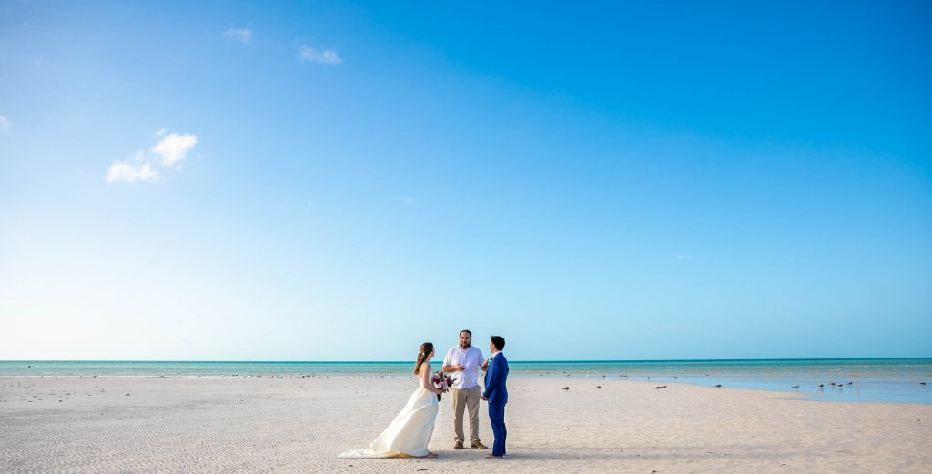 Vanessa Mike Villas Flamingos Holbox Wedding 17 1024x521 - 5 Simple Steps: How to Elope in Riviera Maya, Mexico